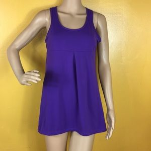 Lucy purple sleeveless workout top